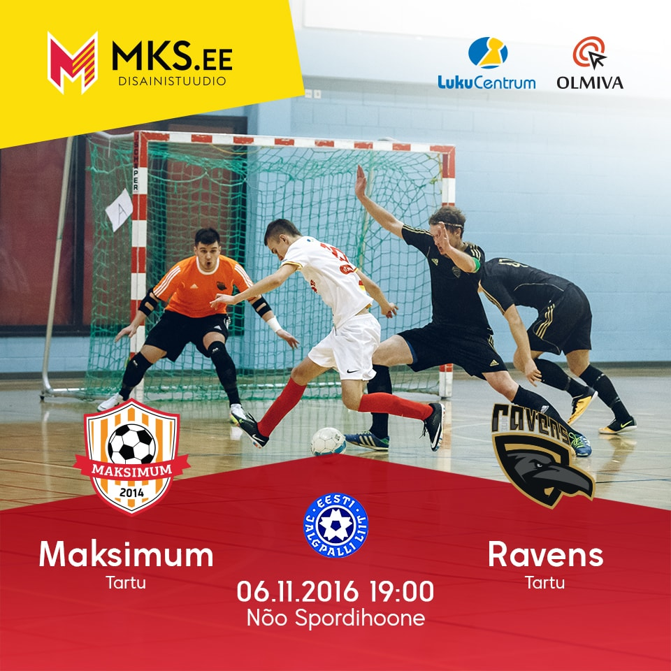 Tartu JK Maksimum - Tartu Ravens Futsal EMÜ SK